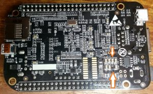 Beaglebone black bottom showing C15